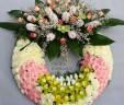 Corona bianco e rosa